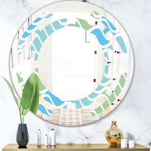 Abstract Design Pattern II Space ModernFrameless Wall Mirror by East Urban Home