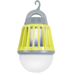 2-in-1 Yellow Battery Powered LED Outdoor Bug Zapper Lantern By Stansport