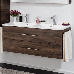 B.Clever 120cm Double Basin Wall Mounted Vanity Unit By Fackelmann