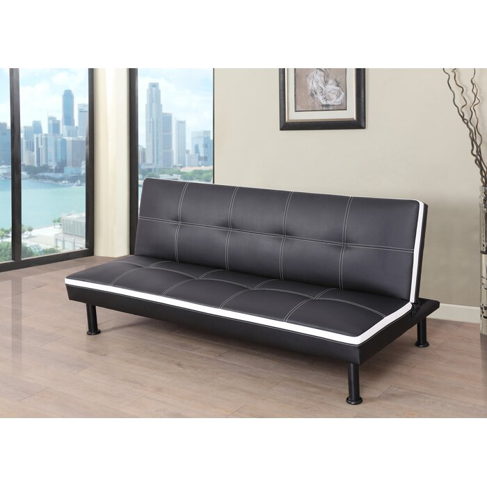 the latest d86c5 9d1ba Evianna Faux Leather Convertible Sofa