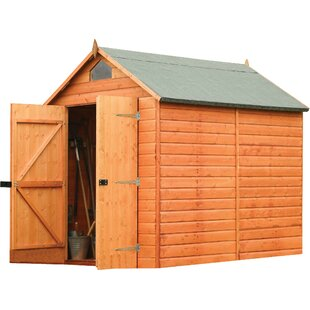 6.5 Ft. W X 8 Ft. D Wooden Storage Shed By Rowlinson