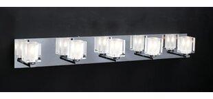 Compare Meeks 5-Light Vanity Light By Orren Ellis
