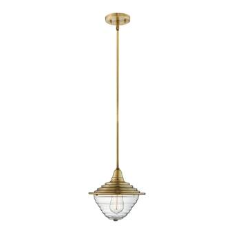 Brayden Studio Charleigh 1 Light Unique Statement Geometric Pendant Reviews Wayfair