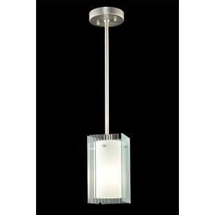 Metro Fluted Quadrato 1-Light Square/Rectangle Pendant by Meyda Tiffany