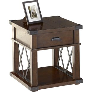 Reviews Fusillade End Table with Storage By Birch Lane™