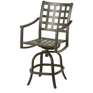 Merlyn Swivel Patio Bar Stool (Set of 2) by Fleur De Lis Living