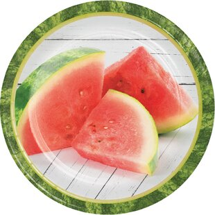 Watermelon Picnic Paper Disposable Dessert Plate (Set of 24)