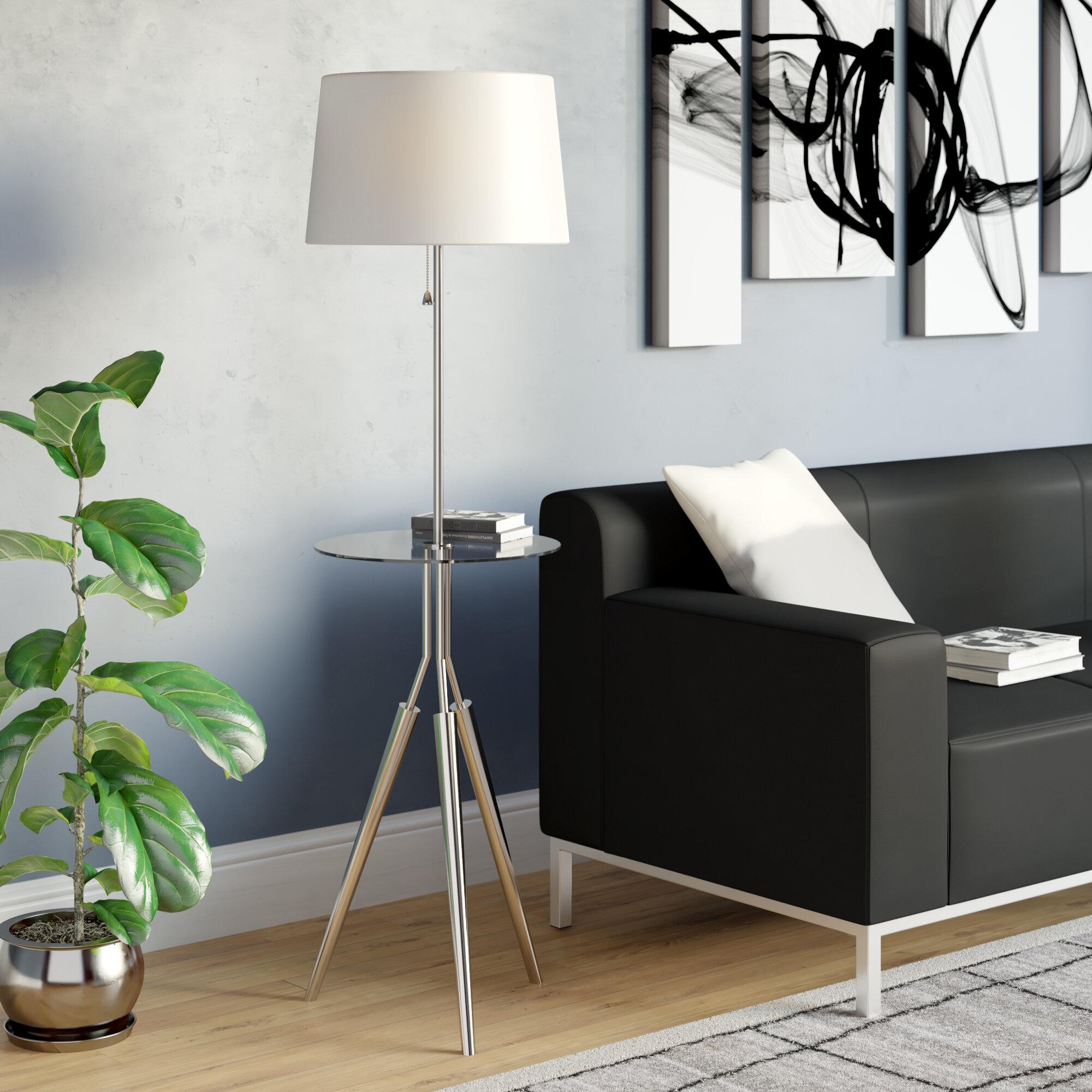 Brayden Studio Garton 58 Tray Table Floor Lamp Reviews Wayfair