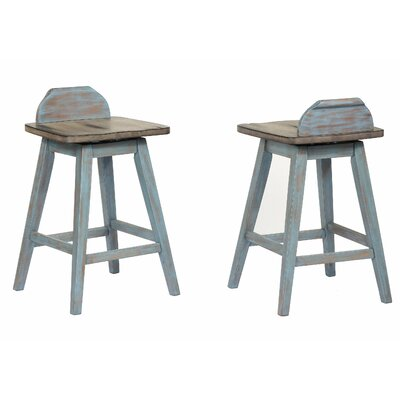 Gray Wood Low Back Bar Stools You Ll Love In 2019 Wayfair