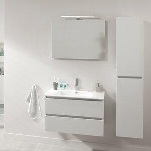 Belfry Bathroom Wandmontierter Waschtisch Stef für Becken mit Spiegel und Aufbewahrungsschrank
