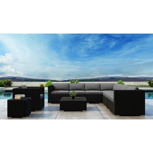 Glendale 10 Piece Sectional Set with Sunbrella Cushion