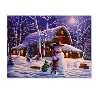 u0027The Joy of Christmasu0027 Graphic Art Print on Wrapped Canvas  sc 1 st  Wayfair & Christmas Wall Art u0026 Paintings Youu0027ll Love | Wayfair