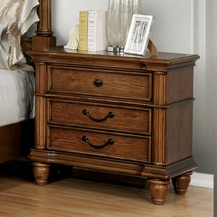 Osvaldo 3 Drawer Nightstand by Astoria Grand