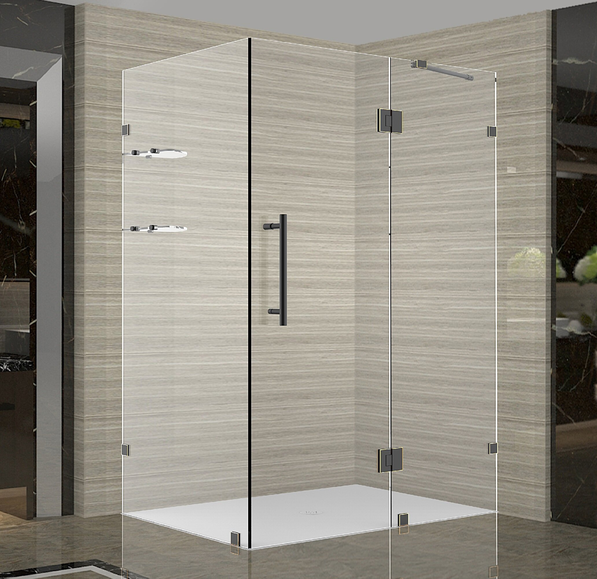 Avalux Gs 48 X 72 Hinged Semi Frameless Shower Door