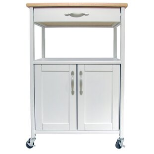 Allie Kitchen Cart with Wood Top August Grove