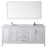 Daria 80 Double Bathroom Vanity Set with Mirror by Wyndham Collection