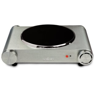 Portable 12 Electric Cooktop with 1 Burner BySalton