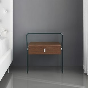 Joaquin End Table with Tempered Glass