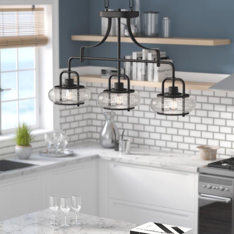 Braxton 3-Light Kitchen Island Linear Pendant