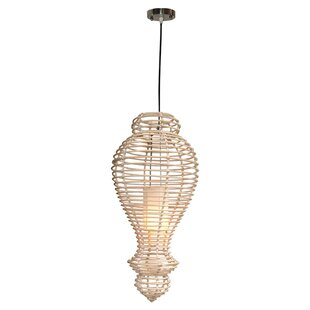 Highland Dunes Imogene Rattan 1-Light Nov..