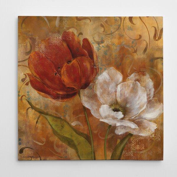 Winston Porter Flower Duet Ii Oil Painting Wrapped Canvas Print Reviews Wayfair
