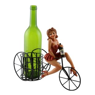 Ophelia Sexy Lady in Red Dress 1 Bottle Tabletop Wine Rack