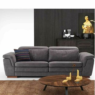 Crittenden Leather Pillow Top Arms Loveseat By Orren Ellis