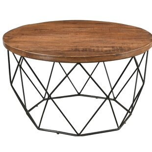 Hand Round Cocktail Table with Tray Top