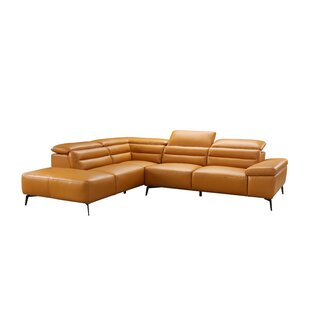 Orren Ellis Kean Leather Sectional