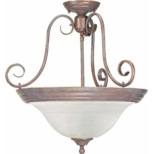 Volume Lighting Troy 3-Light Pendant or Semi Flush Mount