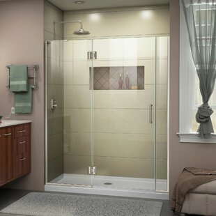 Unidoor-X 55 x 72 Hinged Frameless Shower Door with ClearMax™ Technology by DreamLine