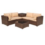 Alishma 6 Piece Rattan Sectional Seating Group With Cushions By Latitude Run Newshopfurnitures