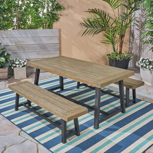 Vanetten Outdoor 3 Piece Dining Set