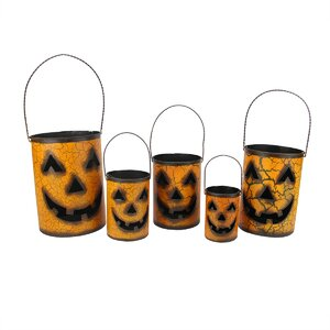 Nesting Luminary Jack-O-Lantern Pumpkin Halloween Container Basket