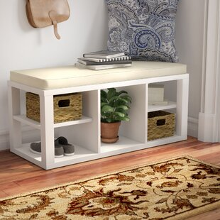 Annsville Wood Storage Bench b..