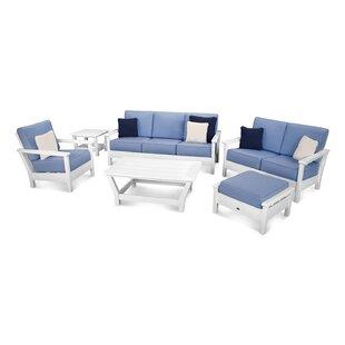 POLYWOOD® Harbour 6 Piece Sunbrella Conversation Set with Cushions