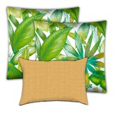 Rockland Calypso Lemon Indoor / Outdoor Pillow