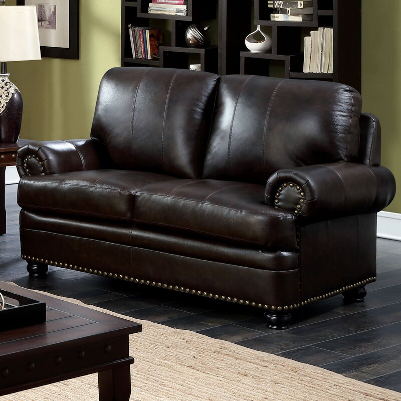 Alamosa Transitional Leather Loveseat