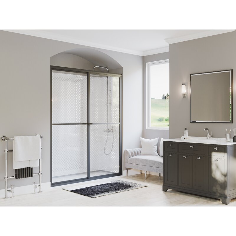 Coastal Industries Paragon Series 47 5 X 66 31 Single Sliding Framed Shower Door Wayfair