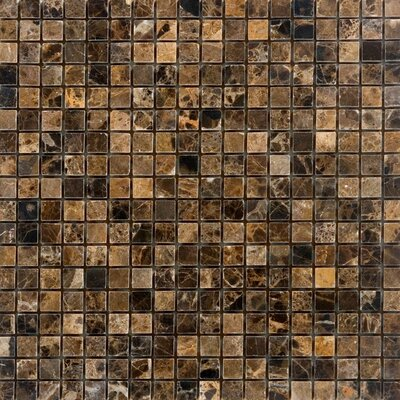 063 x 063 Marble Mosaic Tile in Emperador Dark Epoch