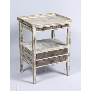 Ratliff Weathered Wood End Table