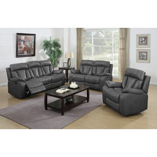 Benjamin Reclining 3 Piece Living Room Set