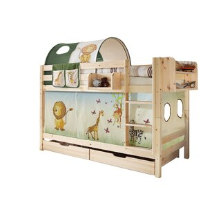 Ella European Single Bunk Bed With Curtain By Zoomie Kids