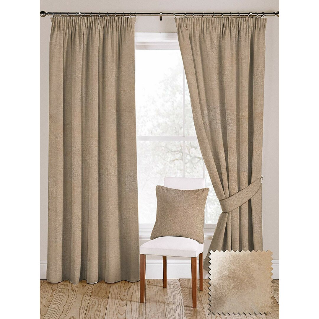 Meredith Pencil Pleat Blackout Thermal Curtains