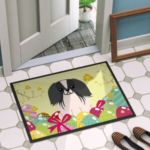 Easter Eggs Pekingnese Indoor/Outdoor Doormat