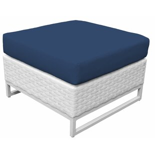 TK Classics Miami Ottoman with Cushion