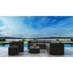 Gilleland 9 Piece Sectional Set with Sunbrella Cushion