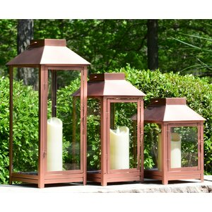 3 Piece Metal Outdoor Lantern Set (Set of 3)