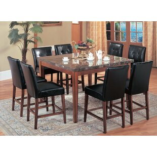 Castle Heights Marble Counter Height Square Dining Table by Red Barrel Studio Top Reviews