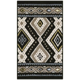 Reviews Rutherford Black/Beige Area Rug ByUnion Rustic